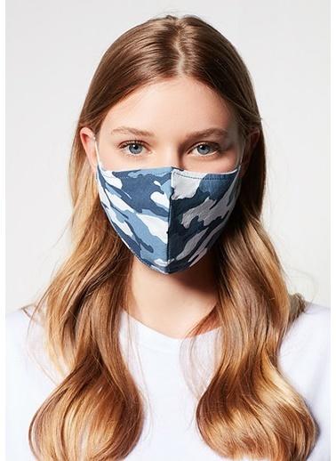 Mavi Kadın  Baskılı Maske 198070-18790 İndigo